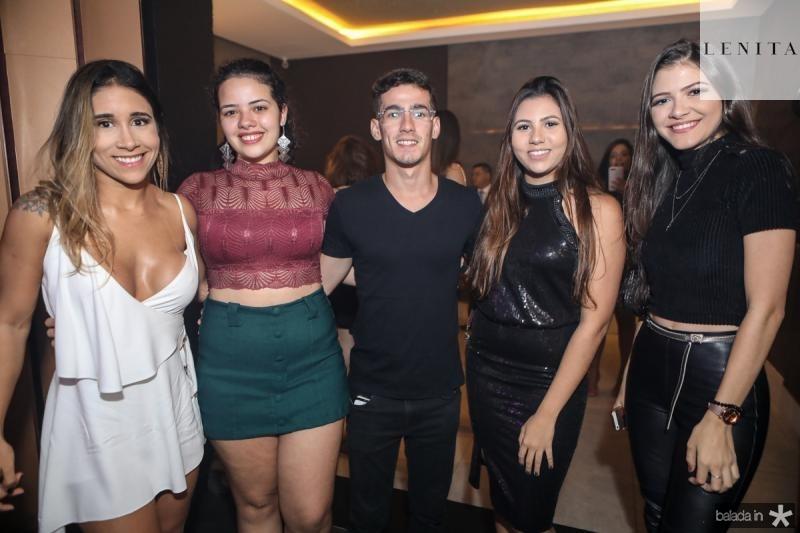 Vitoria Alves, Andresa Ellen, Eltaquio Filho, Denise Fernandes e Ana Gabriela