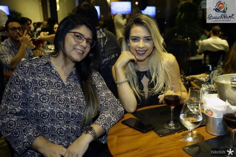 Rafaela Regis e Enila Alves