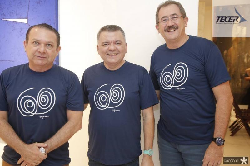 Max Bezerra, Omar Albuquerque e Alexandre Sampaio
