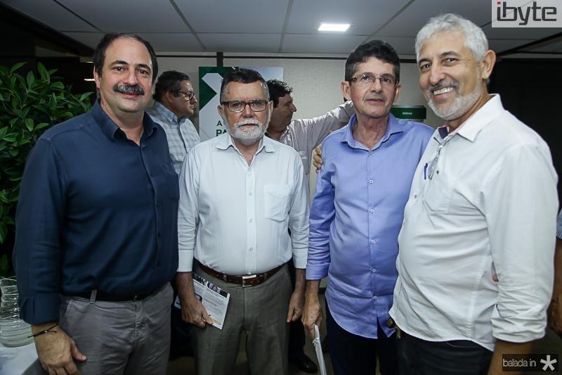 Paulo Holanda, Marcos Albuquerque, Augustin Alcantara e Lauro Martins