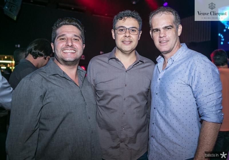 Pedro Gurjao, Gustavo Cruz e Celio Gurgel