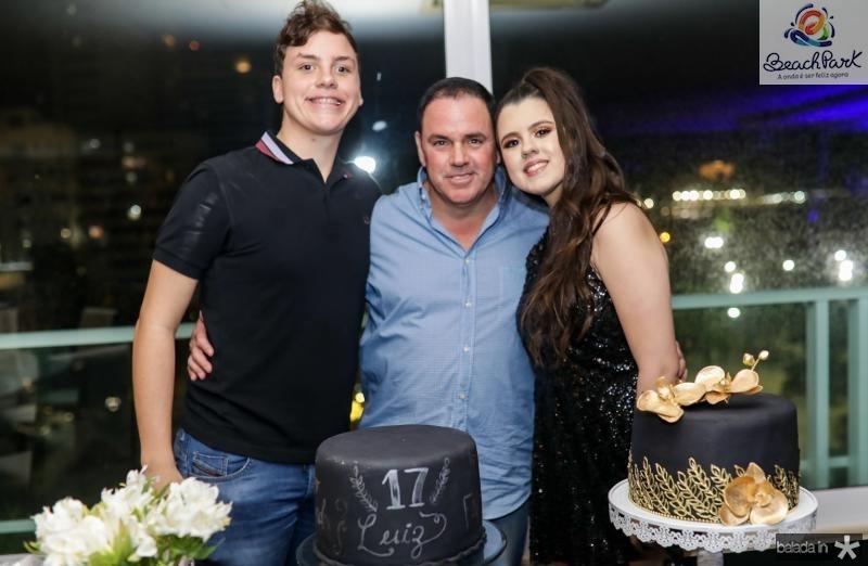 Luiz, Marcelo e Leticia Cidrao