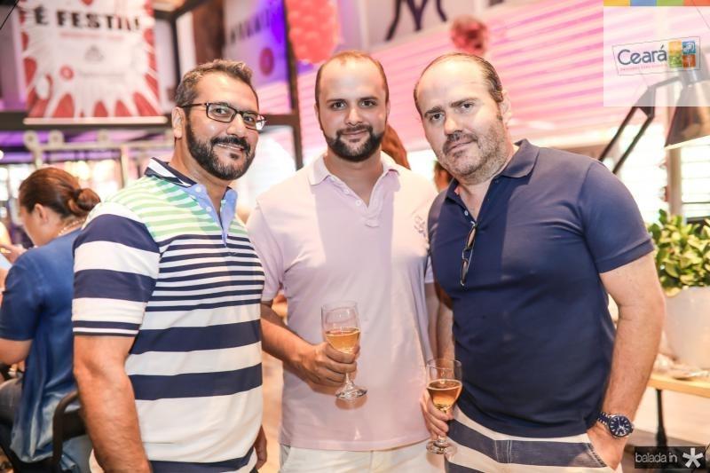 Marcos Silva, Evandro Soriano e Roberto Pamplona