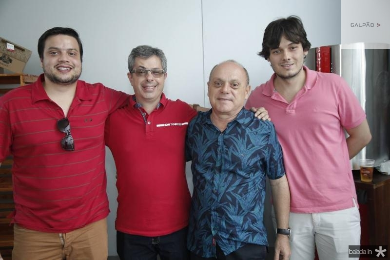 Novack Neto, Andre Marinho, Aquiles Gomes e Armando Garcia
