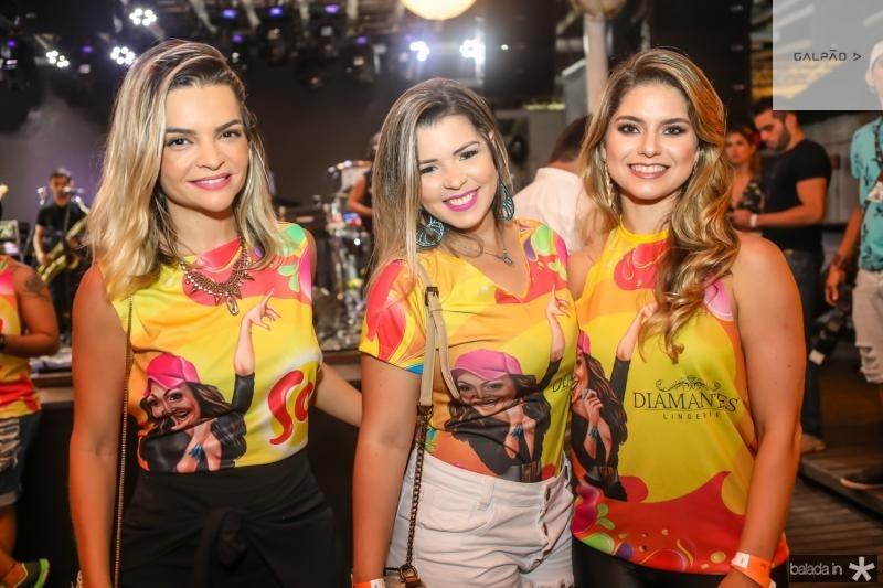 Samara Passos, Emele Alenquer e Andreza Gomes