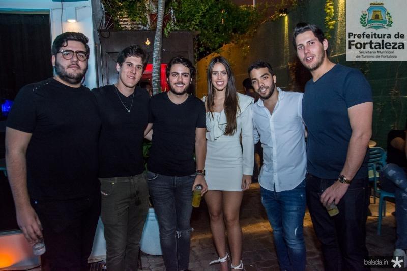 Pedro Freitas, Marcelo Dias Branco, Dj Rodmac, Julia Leal, Matheus Bezerra e Gabriel Dias Branco