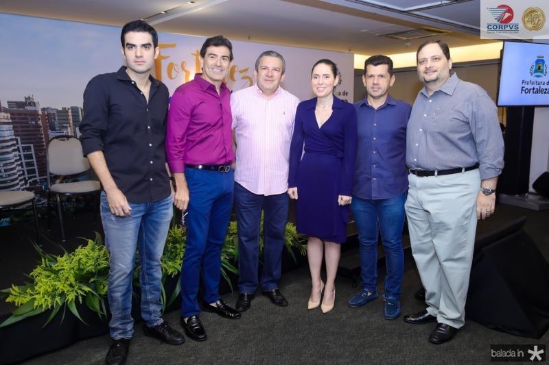 Rodrigo Nogueira, Alexandre Pereira, Jaime Cavalcante, Agueda Muiz, Erick Vasconcelos e Reinaldo Salmito