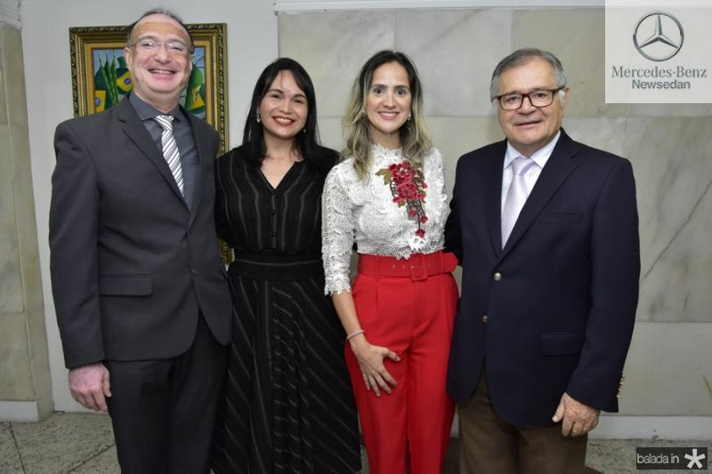 Jonabio Fernandes, Waltenusia Maia, Juana Clemente e Sulivam Mota