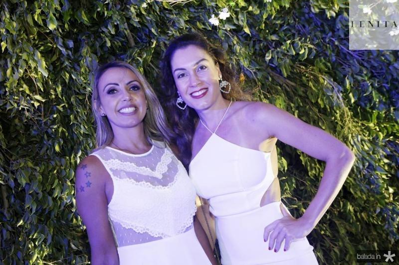 Samantha Borges e Cristiane Perim