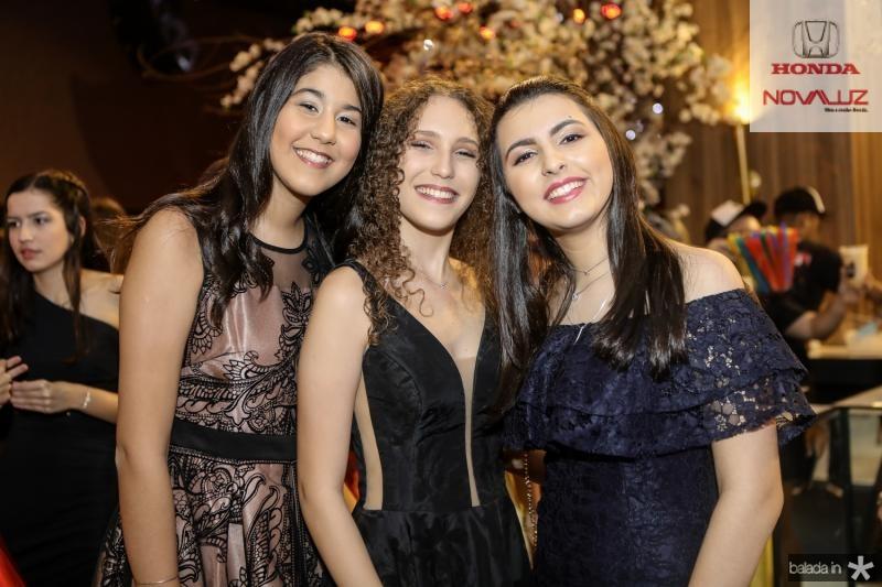 Clara Santana, Mariana Tavares e Thais Fontenele