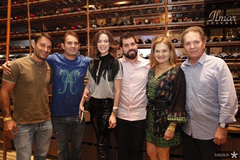 Claudio Rocha, Abelardo Rocha, Paulinha Sampaio, Felipe Rocha, Lenise e Claudio Rocha