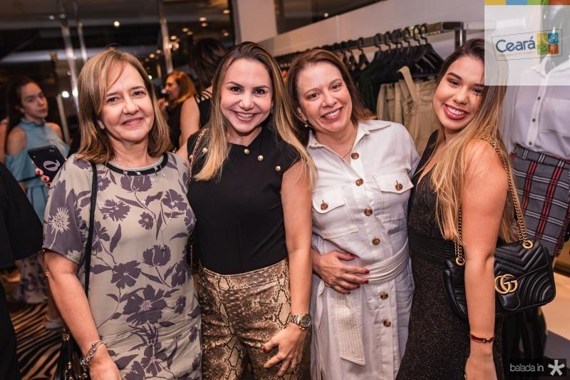 Marcia Pinheiro, Adriana Queiroz, Ana Zelia Gadelha e Eduarda Gadelha