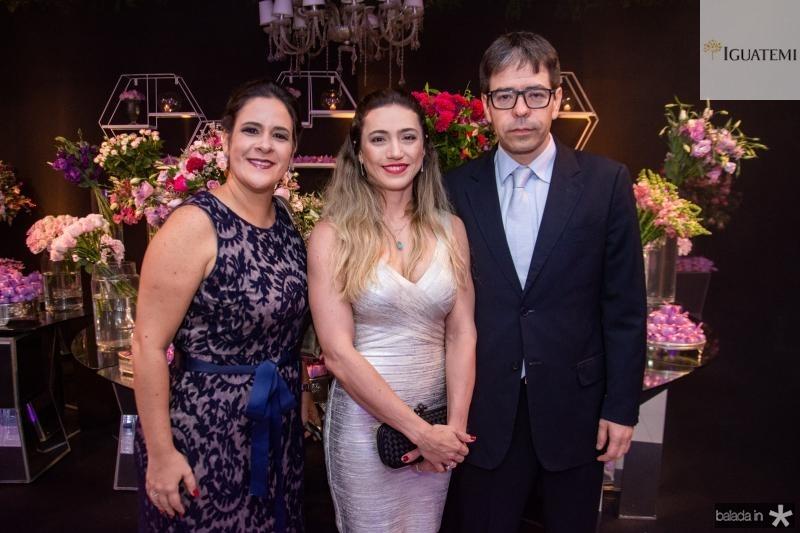 Lia Gondim, Andrea Machado e Iuri Picanco