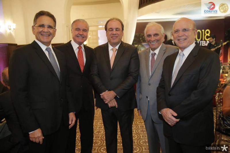 Paulo Ary, Guilherme Aguiar, Claudio Brasil, Jaime Machado e Paulo Mota
