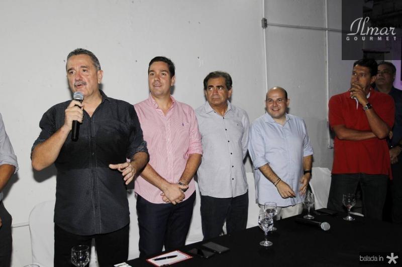 Bismarck Maia, Eduardo Bismarck, Zezinho Albuquerque, Roberto Claudio e Gony Arruda