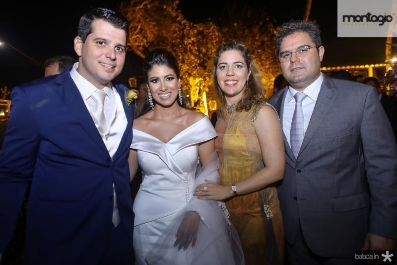 Newton Basto, Larissa Ximenes, Ticiana e Edson Queiroz Neto