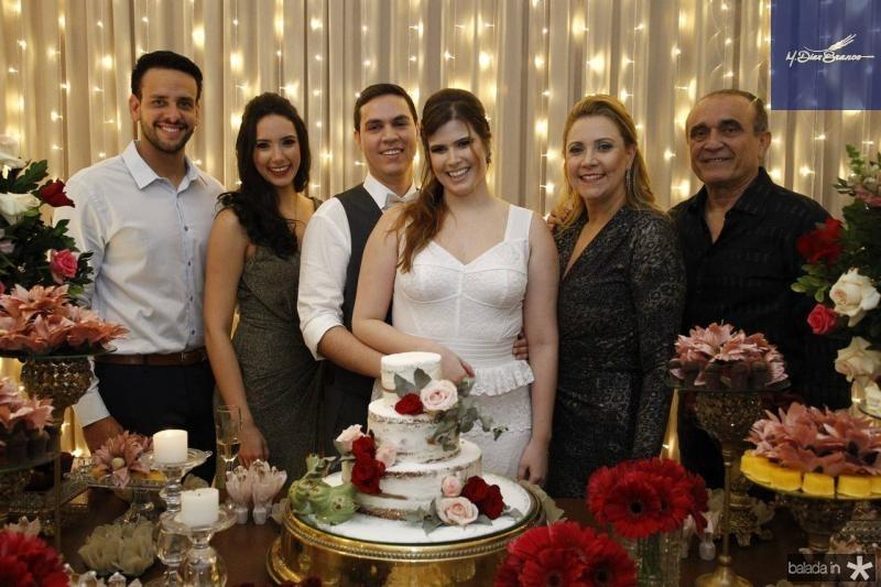 Eduardo Barreira, Talita Bezerra, Paulo Victor, Ana Maria, Andrea e Raimundo Delfino