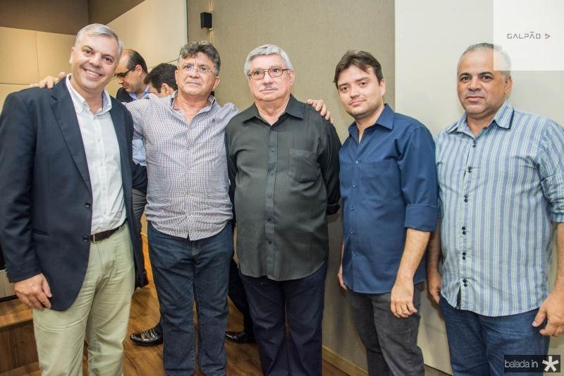 Lucas Ferianci, Boto Cruz, Roberto Parente, Saulo Gomes e Rogerio Goncalves