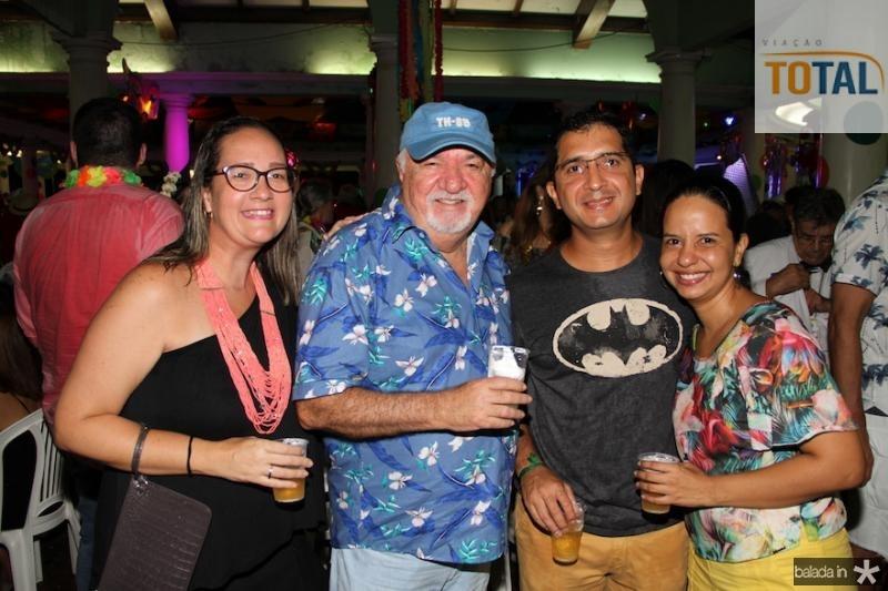 Marta Ray, Nelson Branda?o, Eduardo e Juliana Amaral