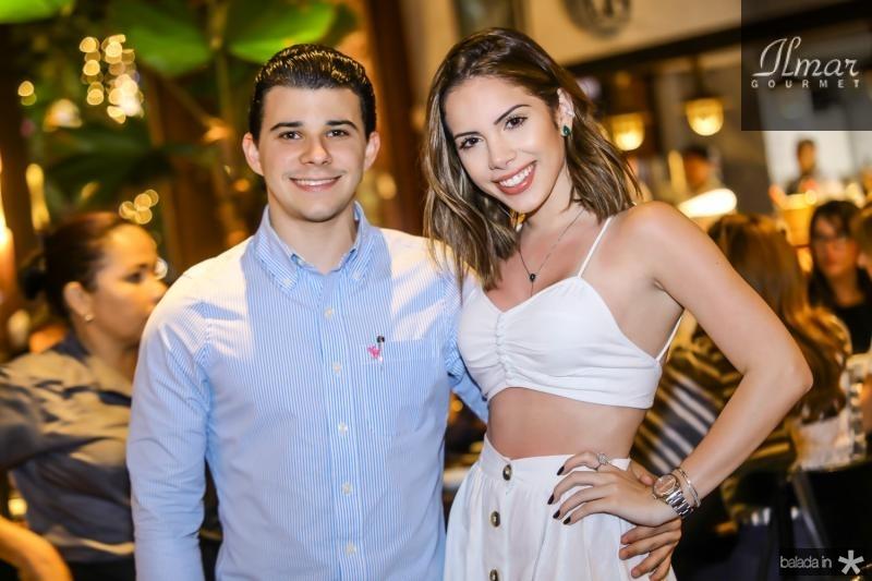 Pedro Carapeba e Nicole Vasconselos