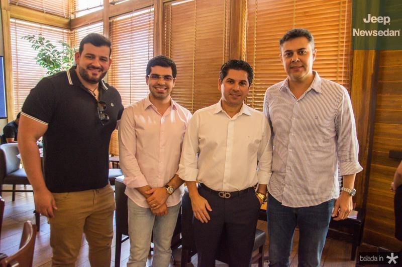 Renato Lourenco, Pedro Garcia, Pompeu Vasconcelos e Gustavo Cruz