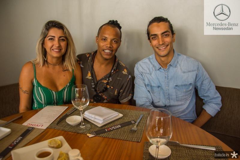 Raquel Antonelo, Josue Moreira e Ruan Candido