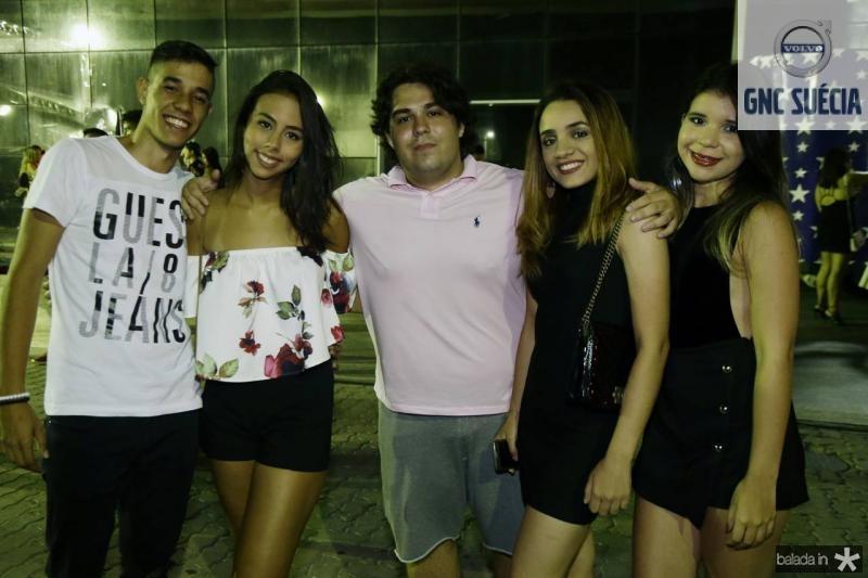 Rodrigo Lima, Sofia Antunes, Juan Sergio, Mariele Nogueira e Beatriz Lima