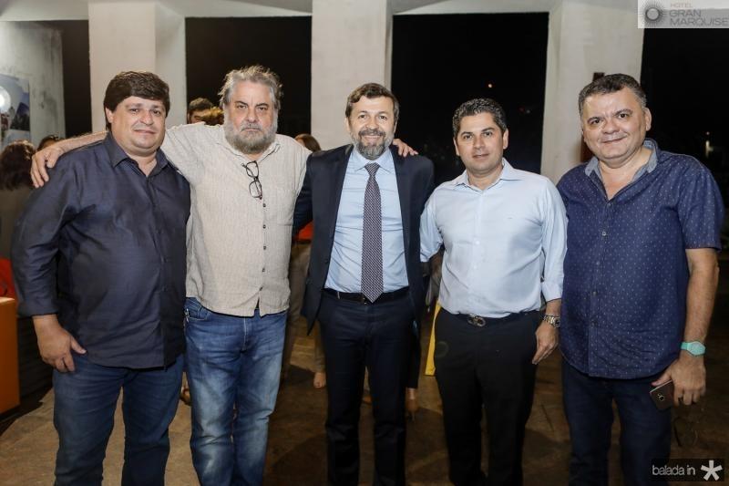 George Lima, Paulo Linhares, Elcio Batista, Pompeu Vasconcelos e Omar Albuquerque