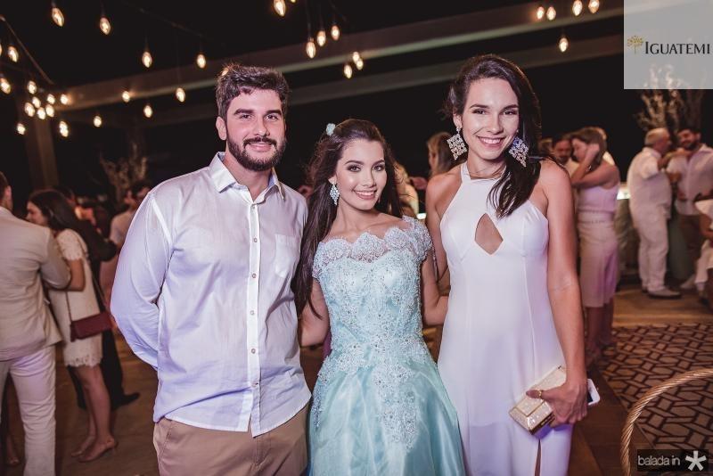 Pedro Barreto, Sofia Leal e Julia Bezerra