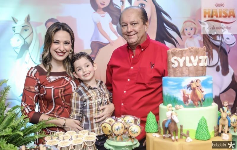 Silvinha, Sylvio e Rafael Leal
