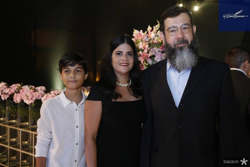 Pedro Sa, Adriana e Gustavo Rique