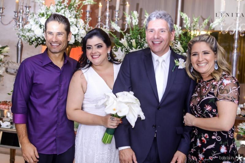 Davi Rodrigues, Vivi Almada, Tobias Barreto e Patriciana Rodrigues