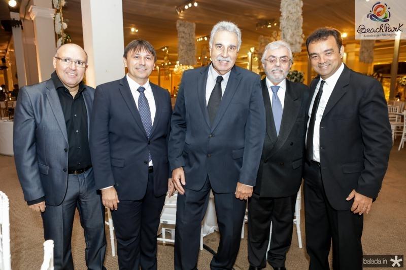 Milton Carneiro, Jocelio Parente, Cesar Roma, Hipolito Monte e Fabio Jiacome