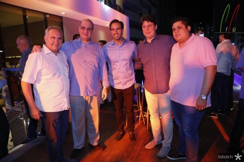 Airton Fernandes, Walder Ary, Vitor Frota, Ricardo Ary e Felipe Goyana