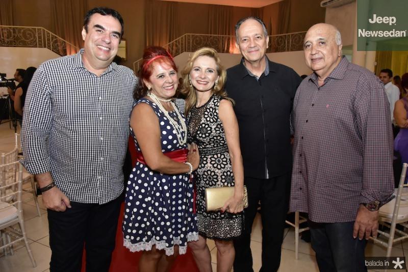 Magno Muniz, Fatima Duarte, Geisla e Fabio Melo e Epitacio Cavalcanti