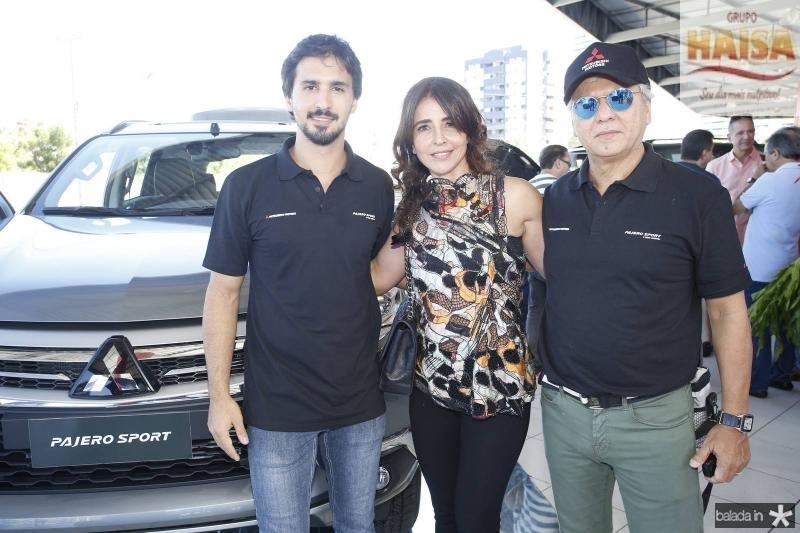 Lucas, Denise e Ricardo Rolim