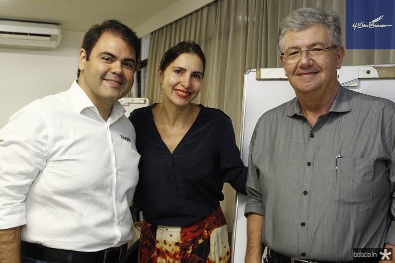 Marco Aurelio, Edna Camara e Carlos Maia