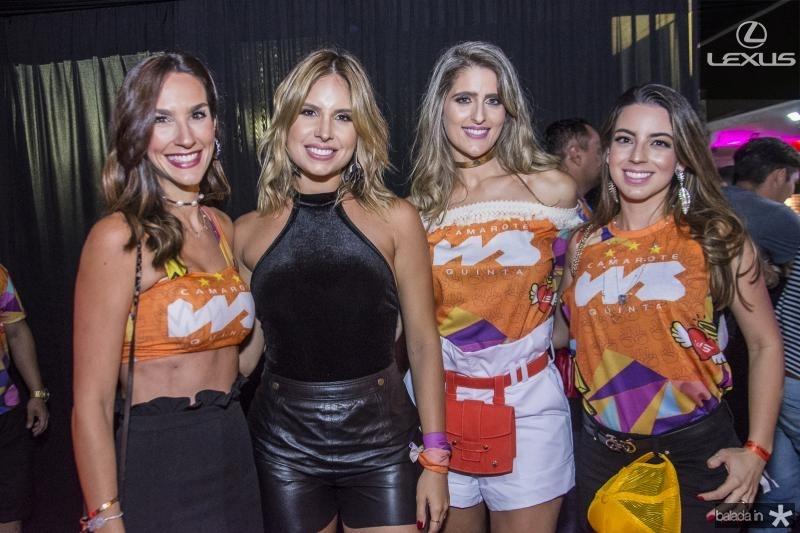 Marcela Carvalho, Thyane Dantas, Rebeca Bastos Leal e Ticiana Parente