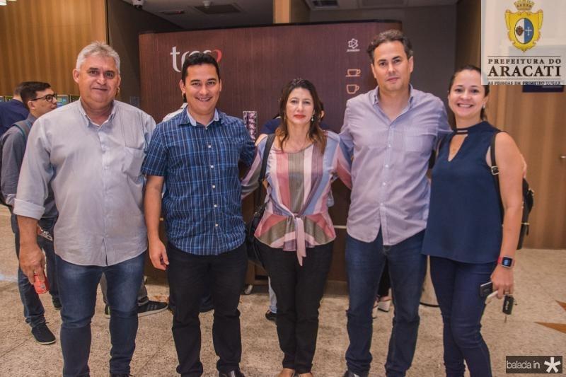 Laercio Silva, Evaldo Carneiro, Liduina Amorim, Paulo Barreto e Lina Azevedo