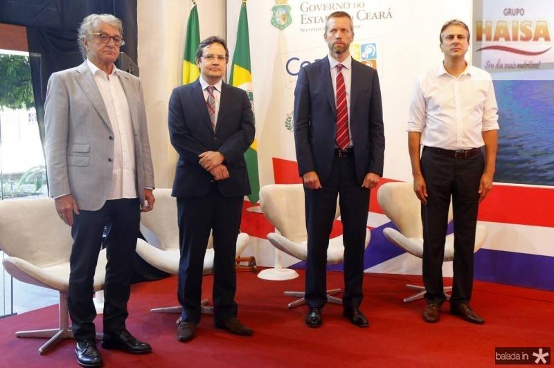 Arialdo Pinho, Edilberto Pontes, Jerome Cardier e Camilo Santana