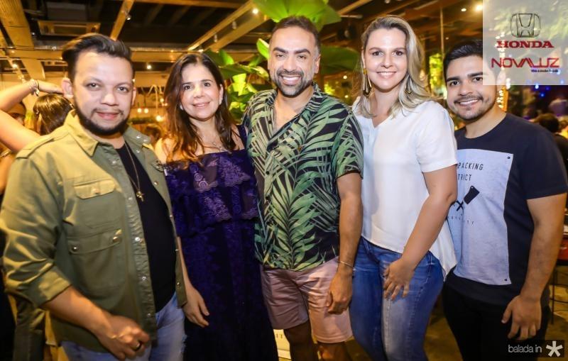 Roberto Alves, Maria Lucia Negrao, Padua Lopes, Alexia Fontes e Bruno Mesquita