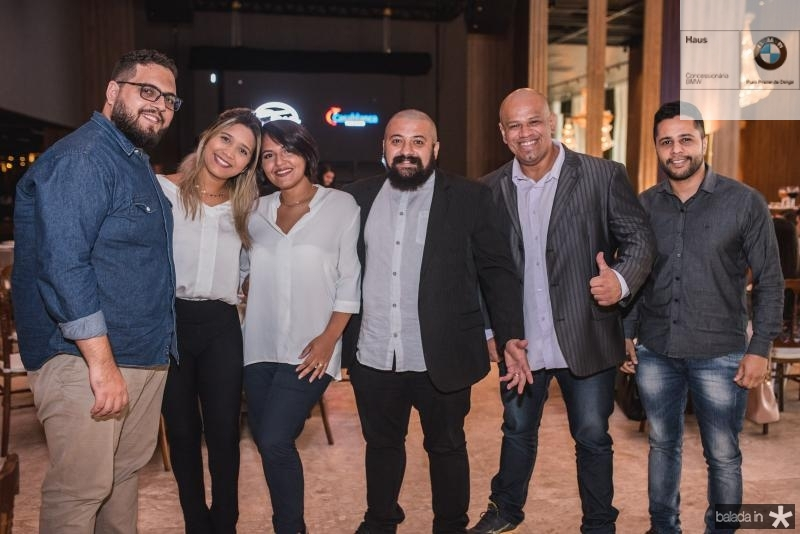 Tiago Serra, Desiree Campos, DOuglas Simão, Daniel SIlva, Natan Santos, Keliane Dias