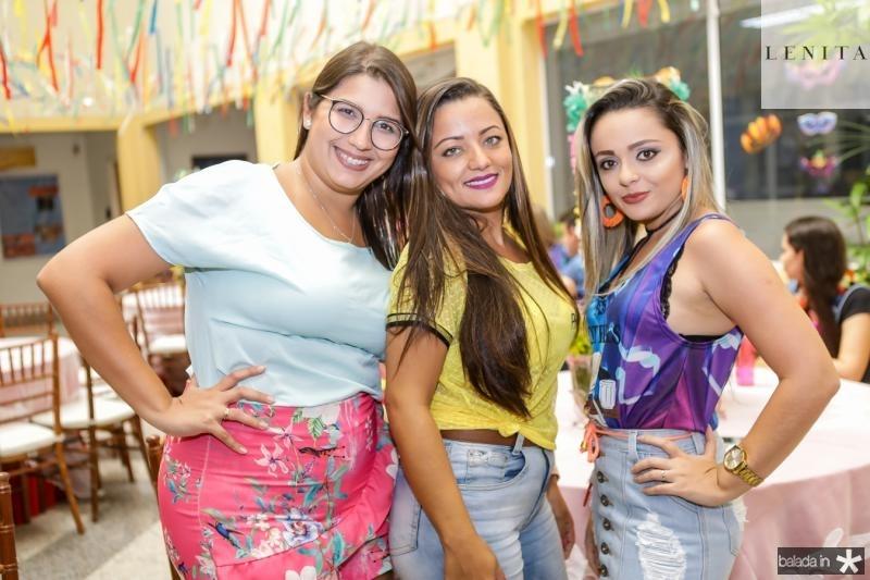 Roberta Ximenes, Karina Sousa e Diury Fernandes