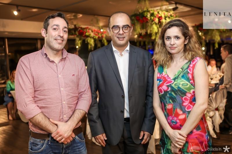 Bruno Matos, Adriano Araujo e Carina Correia