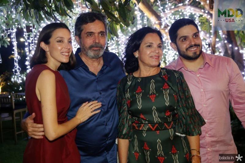 Joana, Totonho, Elusa e Fernando Victor Laprovitera