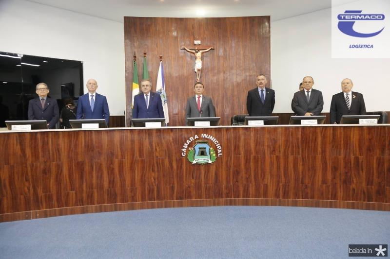 Joao Araujo Sobrinho, Freitas Cordeiro, Assis Cavalcante, Jose Porto, Artur Bruno, Honorio Pinheiro e Idalmir Feitosa