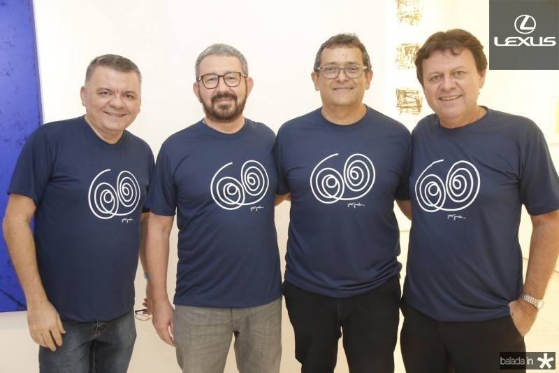 Omar Albuquerque, Francisco Vidal, Jose Guedes e Tarcisio Ruete