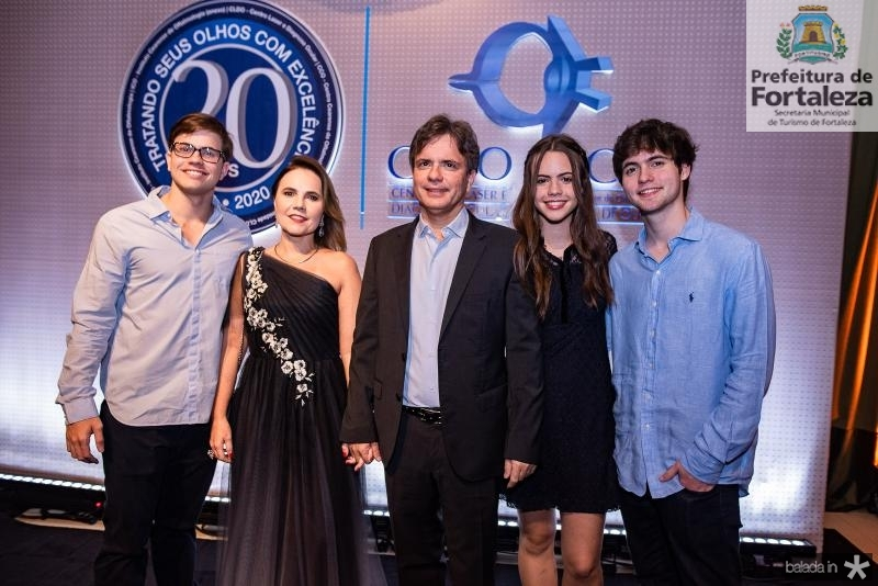 Diego Machado, Gyna Juca, Andre Juca, Lina e Andre Machado