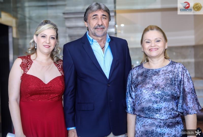 Evelise Lima, Fred Montenegro e Regina Vasconcelos