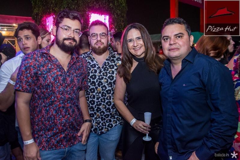 Diego Costa, Nicola Martins, Andrea Araujo e Silvio Leite